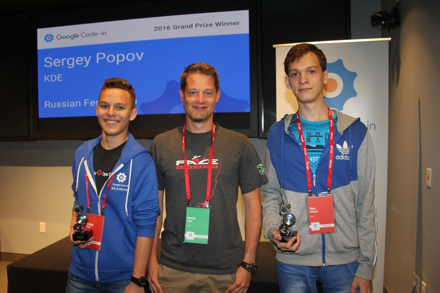 Picture of KDE's Grand Prize Winners of GCI